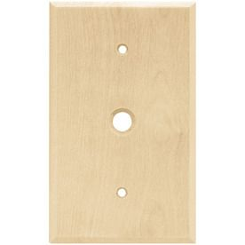 Wall Plates Lowes Lowesbrainerd 1Gang Unfinished Birch Coax Wood Wall
