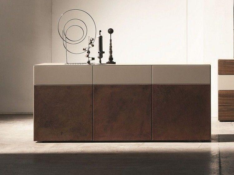 Inclinart Sideboard mit Cortenstahl Fronten von Presotto Furniture - cortenstahl innenbereich ideen