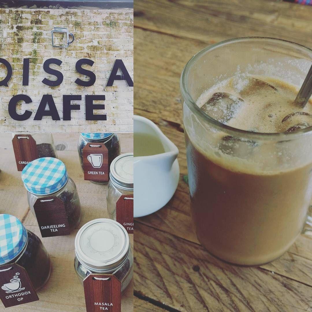 Un #cafe con #lechedecoco en el #qissacafe en #cochin y #empezamos el día!