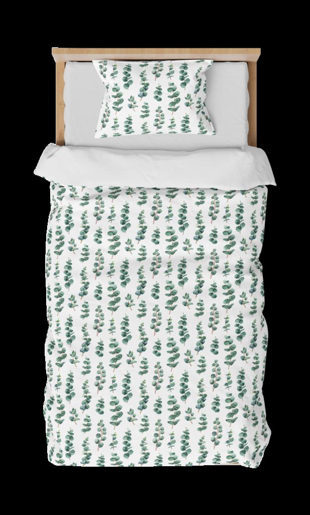 Silver Gum Leaf Single Bed Sheets Bed Sheets Single Bed Mattress Single Bed