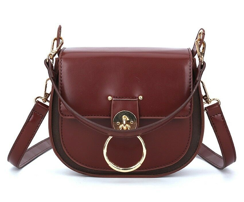 36dcf45f0940 Saddle Bag Leather Women Flap Small Messenger Shoulder Bags ...