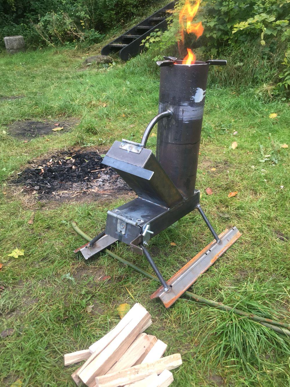 Rocket Stove Rocket Stoves Furnace Heater Weld Idea