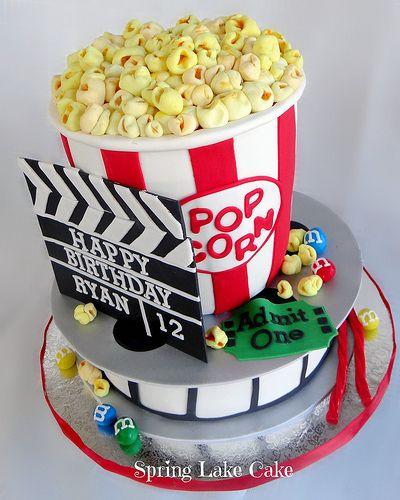 Movie Night Cake Movie Theme Cake Sweet 16 Cakes Movie Cakes