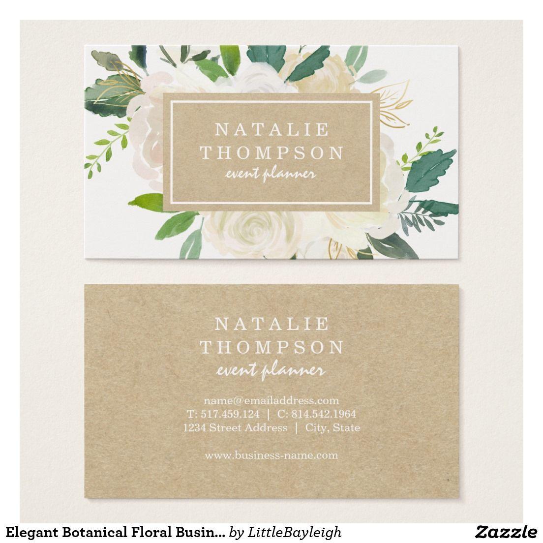 Elegant Botanical Floral Business Card | Business cards, Elegant and ...