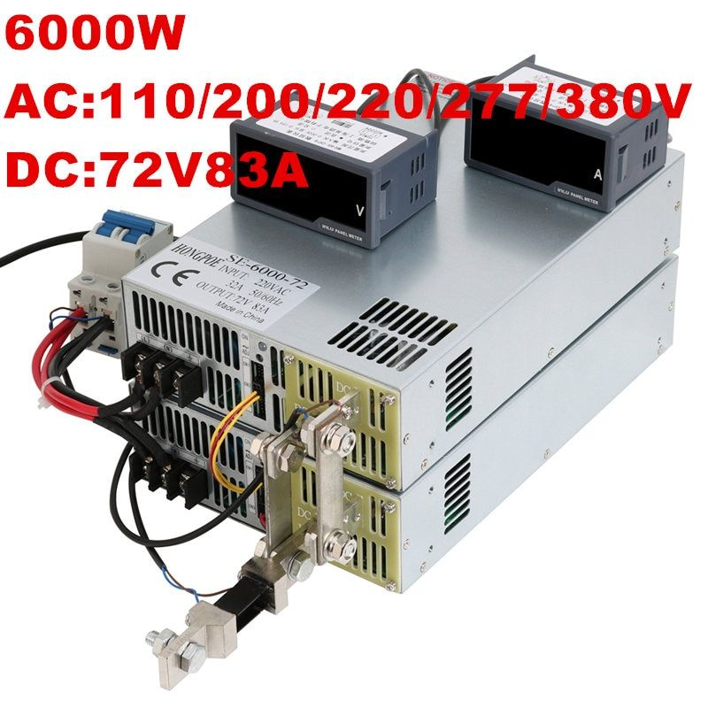 6000w 72v Power Supply 72v 83a 0 5v 0 10v Analog Signal Control 0 72v Adjustable Power Supply 72v 6000w Ac To Dc On Off Attention Valid Discount 12