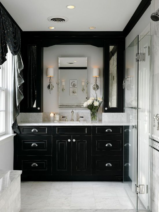 Bathroom With Black Cabinet Design Pictures Remodel Decor And Ideas