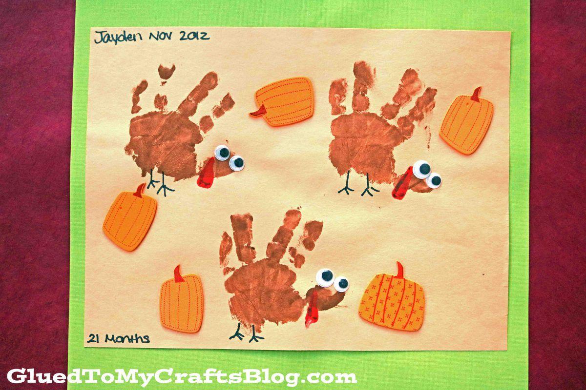 Two Handprint Turkey Keepsake Ideas