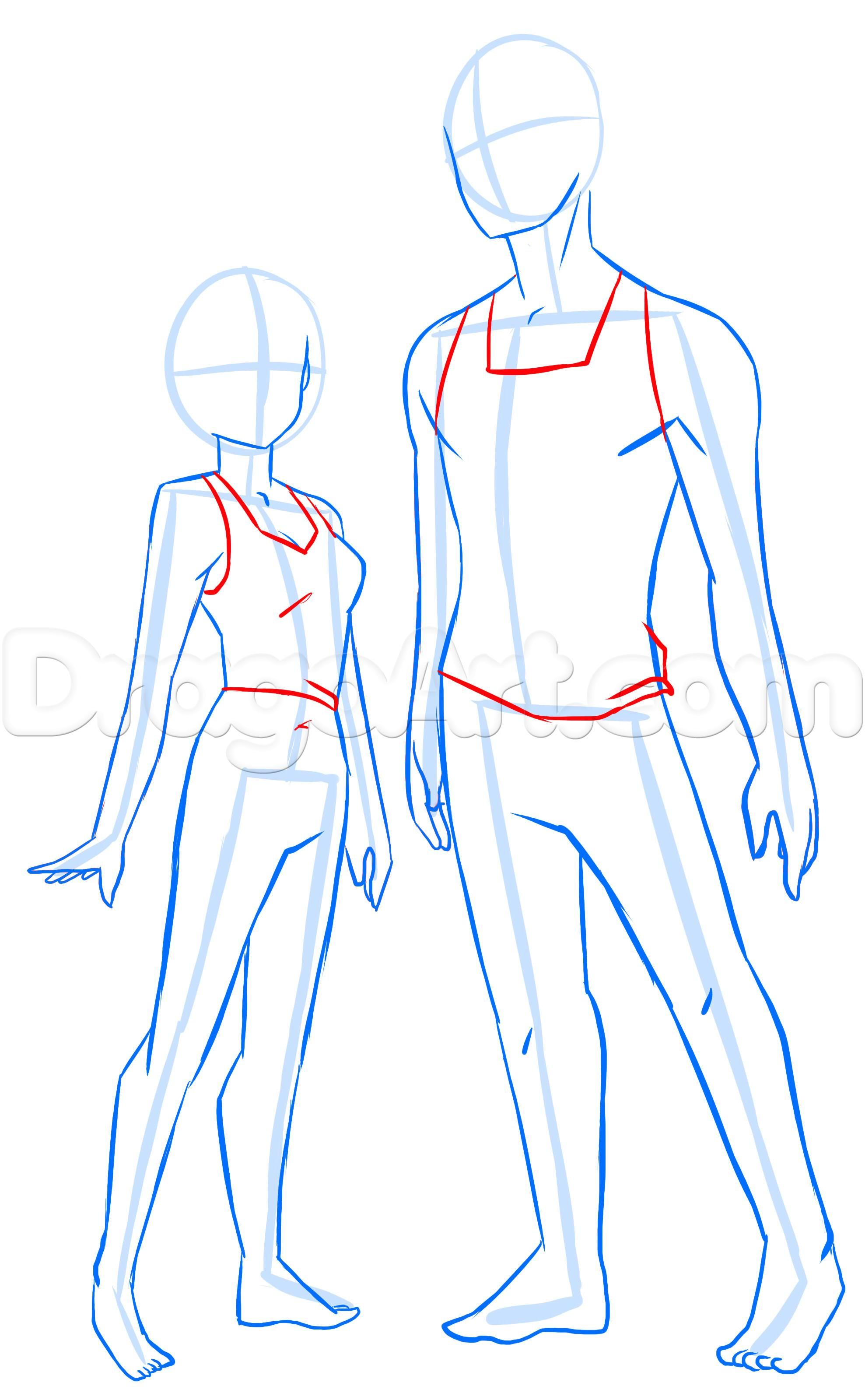 How To Draw Anime Anatomy Step 17 Anime Drawings Anime Drawings Tutorials Drawing Anime Bodies