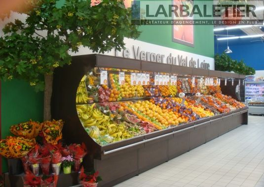 Agencement magasin alimentaire pr sentoirs fruits et for Idee boutique a ouvrir