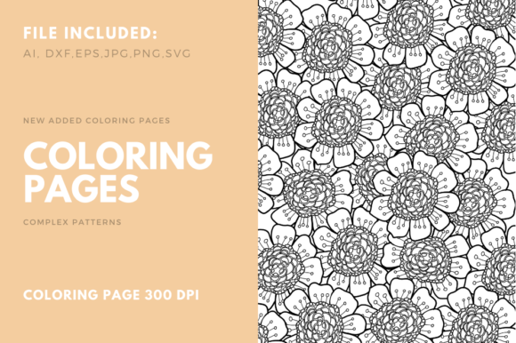 Flower Coloring Page For Kdp Graphic By Stanosh Creative Fabrica In 2020 Flower Coloring Pages Coloring Pages Coloring Book Pages