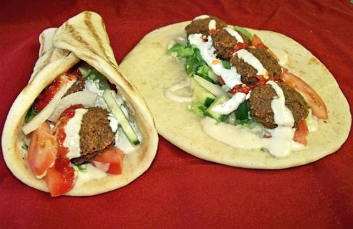 Falafel in pita with yogurt sauce recipe yogurt sauce for Anoush middle eastern cuisine north york