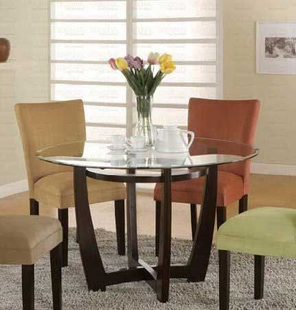 48 Inch Round Glass Dining Table With Hardwood Leg Consumer