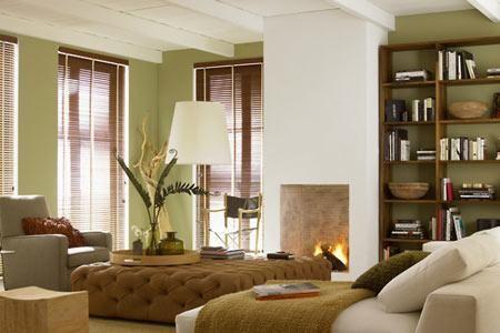 Farbe Grau, Grün, Braun - Wohnen und einrichten mit Naturfarben - wohnzimmer beige grun