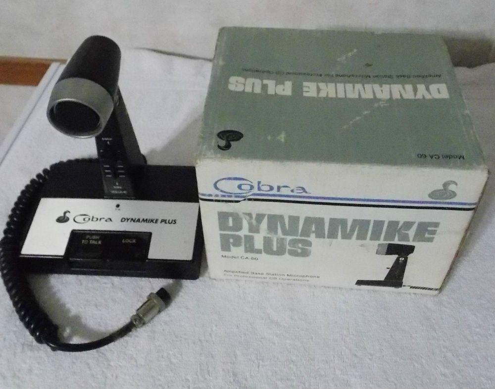 Vintage Professional COBRA Dynamike Plus CB Microphone CA-60
