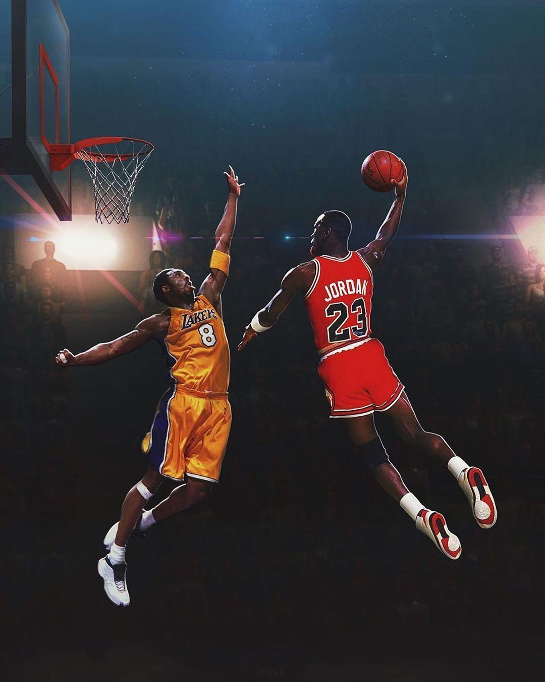 Michael jordan basketball, Kobe bryant