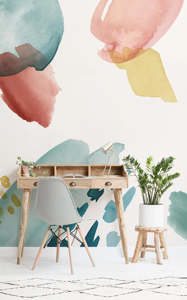 Multi-colored Watercolour Wallpaper | Brush Strokes ...