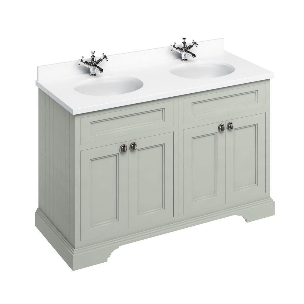 vanity units burlington twin vanity unit double doors 130cm white