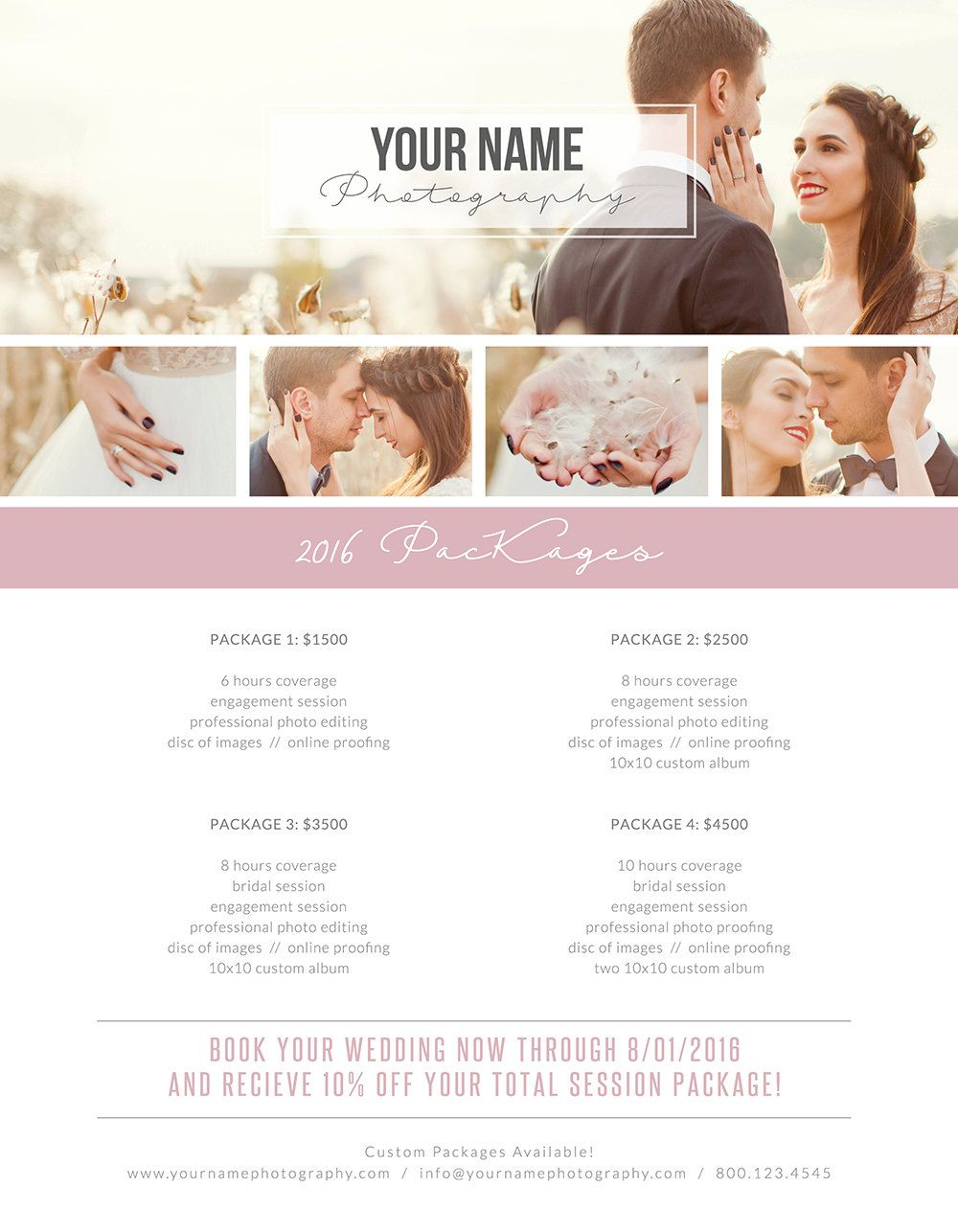 Price List Price Menu Template Photography Pricing Guides