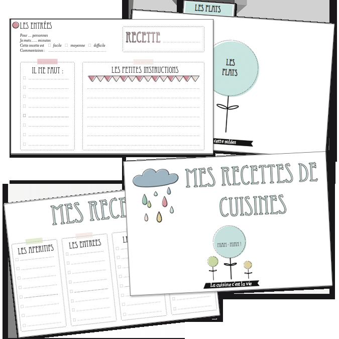 des fiches recettes a imprimer liste organiser cartes de recettes recettes de cuisine et. Black Bedroom Furniture Sets. Home Design Ideas