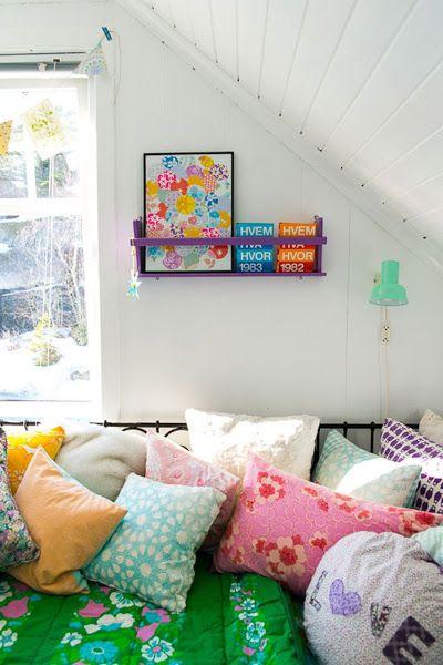 Una decoración con mucho color