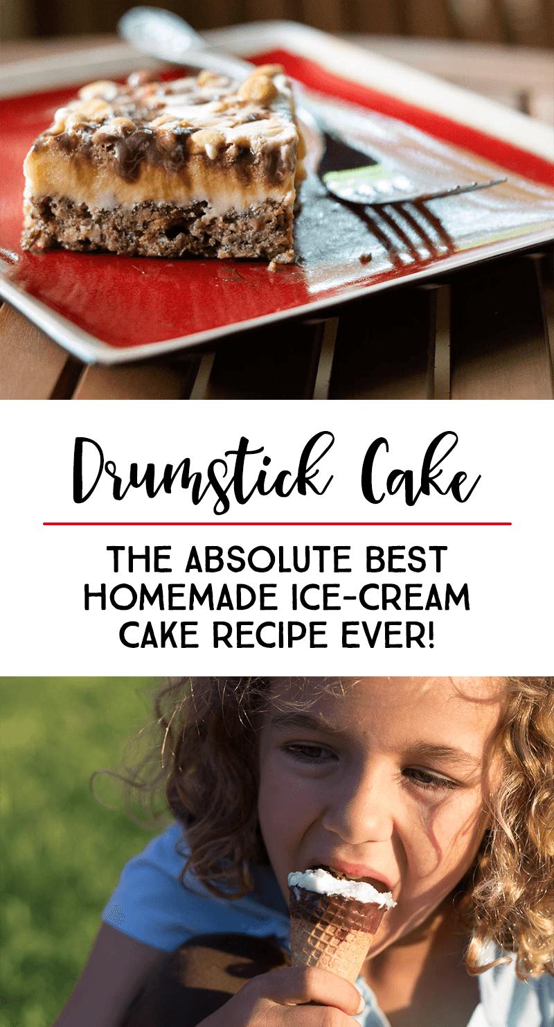 How to Make Drumstick Cake — THE BEST Homemade Ice-Cream Cake Recipe Ever #homemadeicecream