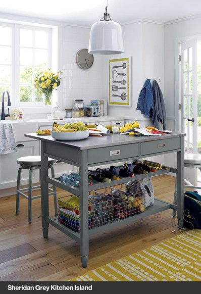 New Furniture Crate And Barrel Grey Kitchen Island Kitchen Island Storage Stylish Kitchen Island
