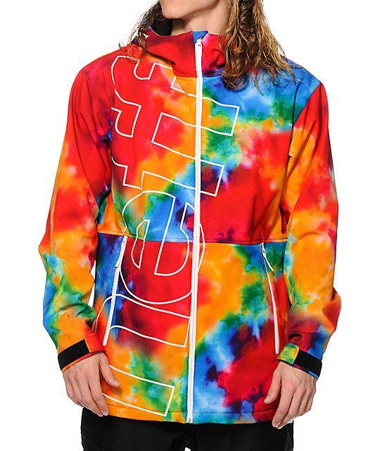 ebbfbafe4 Neff Daily Tie Dye 10K Softshell Snowboard Jacket