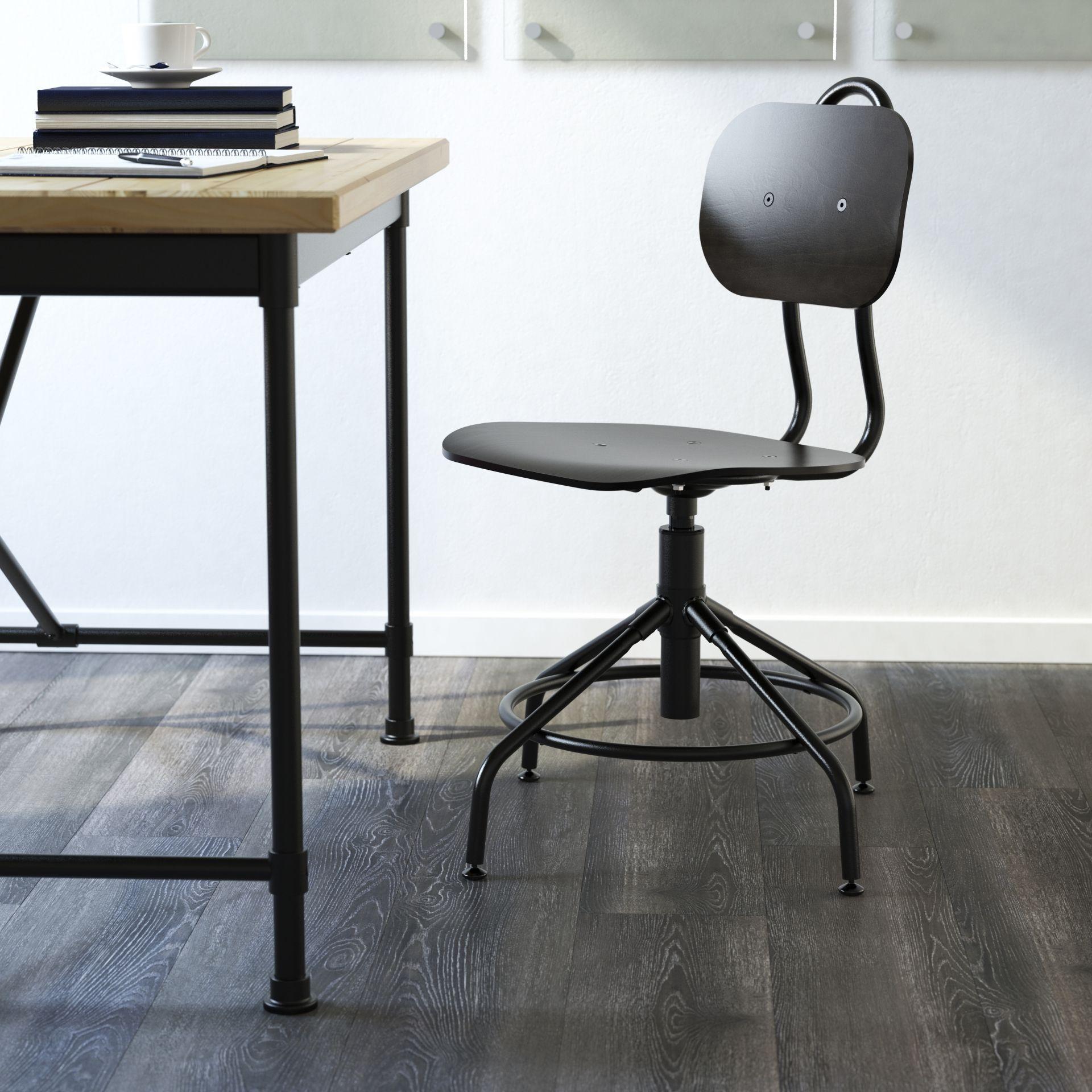 KULLABERG Bureaustoel zwart