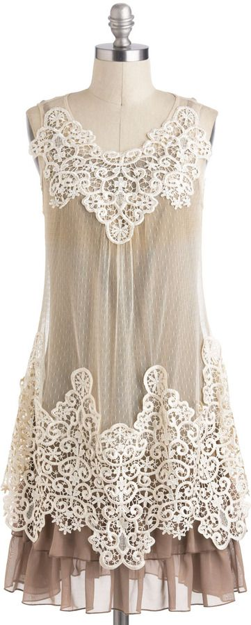 Vintage Style Ryu Dreams and Sugar Dress $99.99 in Neutral Colors