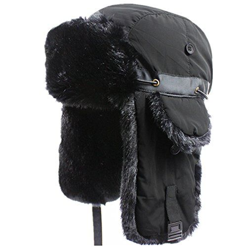f956eb5bc4ee58 Connectyle Unisex Faux Fur Lined Trooper Trapper Hat Warm... https://