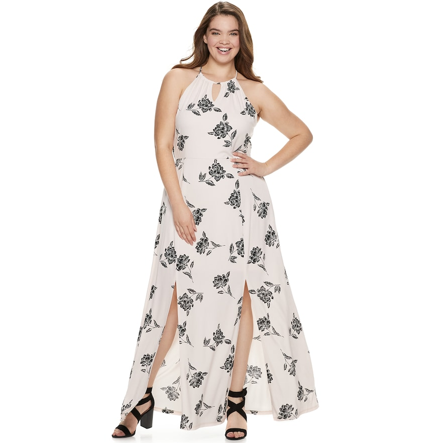 Juniors\' Plus Size Candie\'s® Halter Maxi Dress | Products in ...