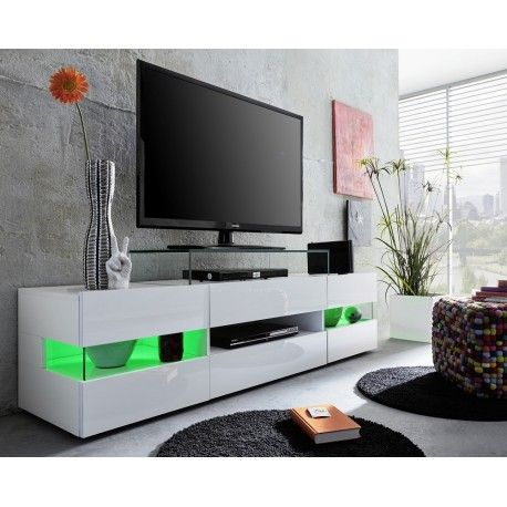 Sonic Tv Stand With Optional Led Lights Sena Designer