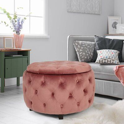 Fabulous Mercer41 Sylvester Round Tufted Storage Ottoman Upholstery Pabps2019 Chair Design Images Pabps2019Com