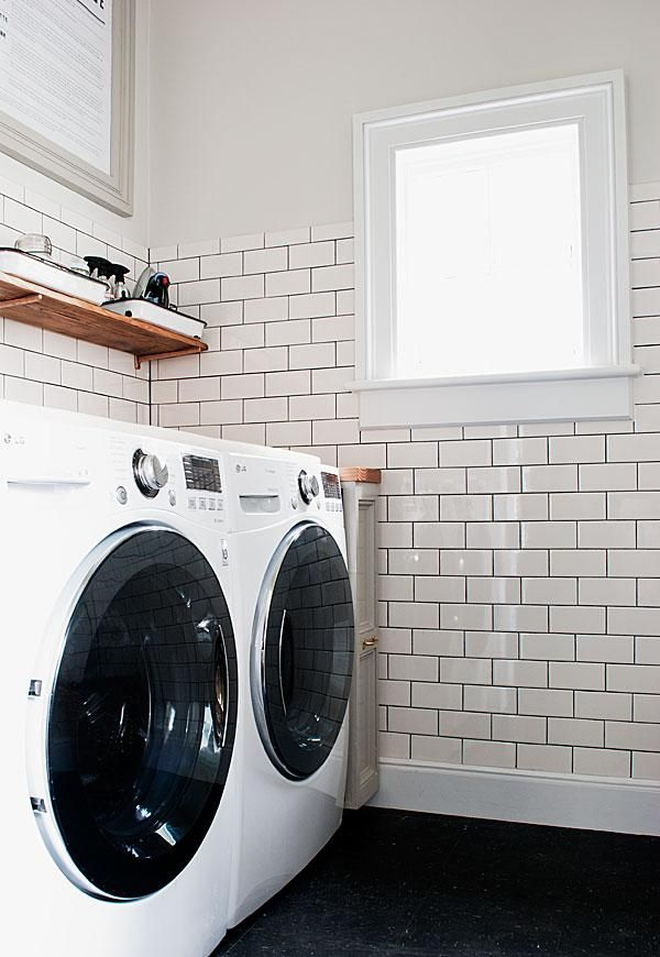 The Laundry Room Is Done Manhattan Nest Subway Tile Laundry