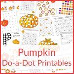 Pumpkin Do-a-Dot Printables