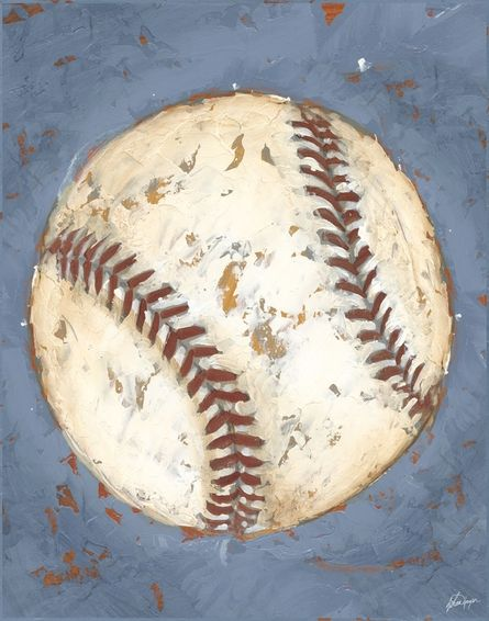 Baseball Game Day Canvas Reproduction