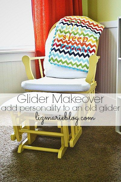 Nursery Glider Makeover -  Rocking chairs, Nursery gliders and How to ...