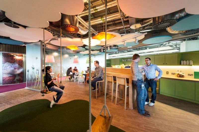 office pantry design. The Fun Side Of Google Docks Pantry Office With Wooden Swing Design