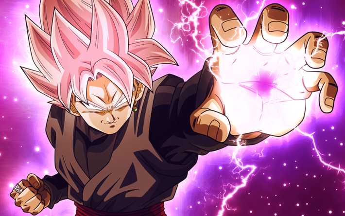 Download wallpapers Super Saiyan Rose, magic, Dragon Ball