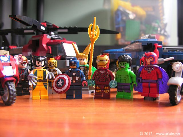 Lego The Avengers and X-Men by arlain, via Flickr