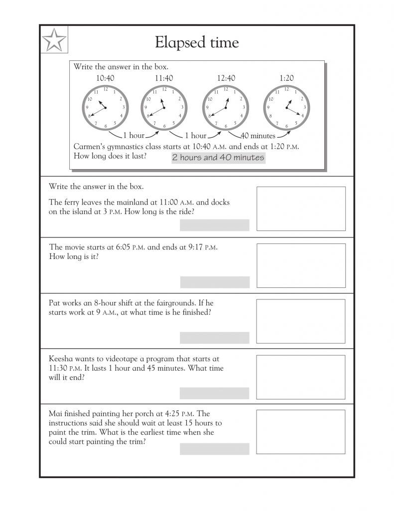 small resolution of 4th Grade Math Word Problems - Best Coloring Pages For Kids   Time word  problems