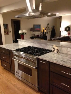 Delicieux Denver Kitchen Remodel Stove In Island Kitchen, Stove Top Island, Raised Kitchen  Island,