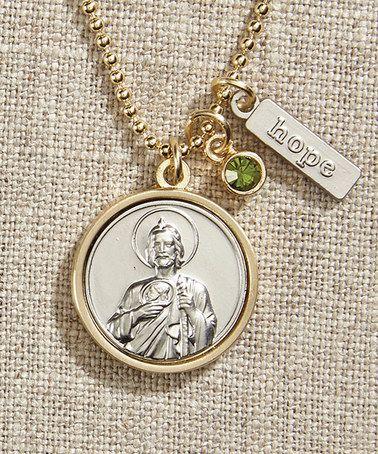 Look what I found on #zulily! Swarovski® Crystal & Two-Tone St. Jude Pendant Necklace #zulilyfinds