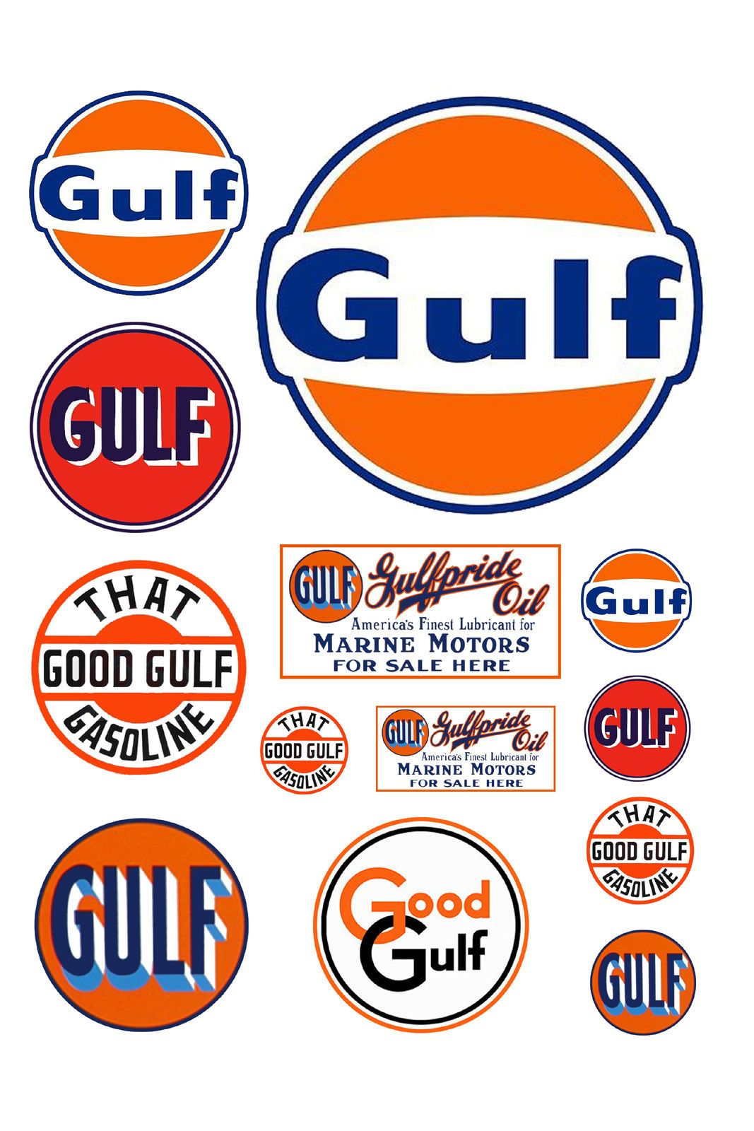 1:25 G scale model Gulf gasoline station gas signs | Scale models ...