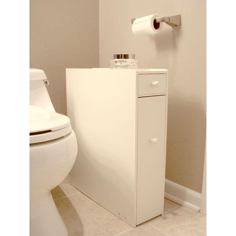 Space Saving Bathroom Floor Cabinet In White Wood Finish In 2020 Space Saving Bathroom Bathroom Floor Cabinets Bathroom Flooring