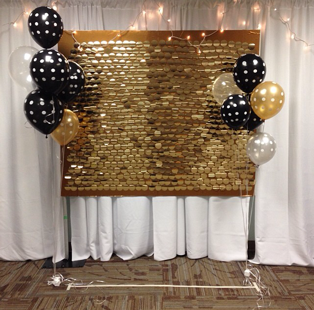 Super Cute Gold And Black Recruitment Backdrop! This Is