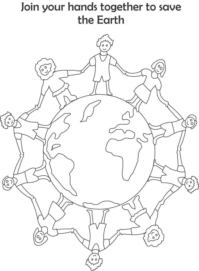 earth day printable coloring page for kids 4 going green