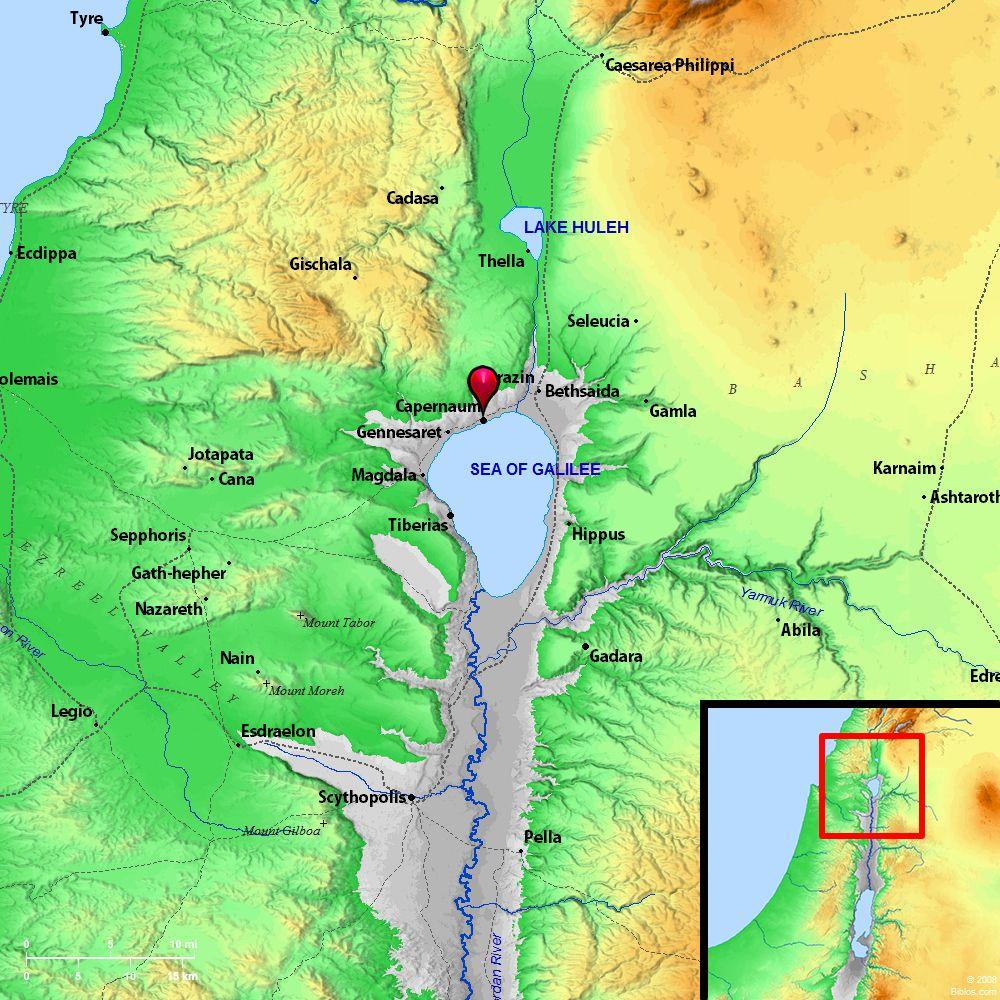 Bible Map: Capernaum | BIBLE MAPS | Pinterest | Bible