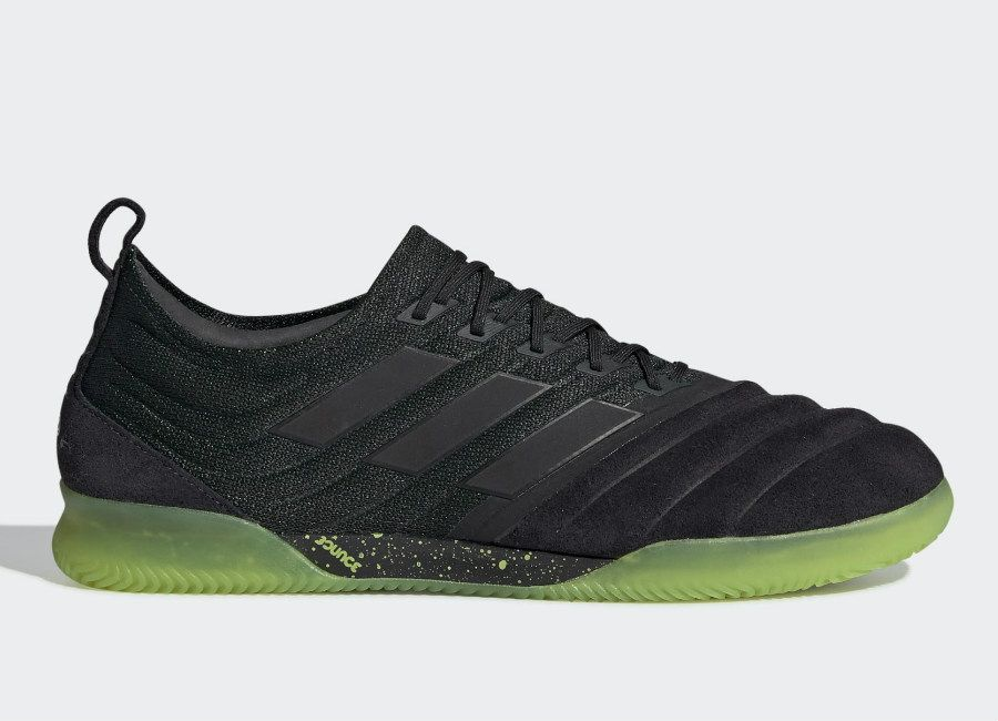 536ae9df5 Adidas Copa 19.1 IN Shoes - Core Black / Core Black / Solar Yellow #Futsal  #Adidasfootball #Adidassoccer