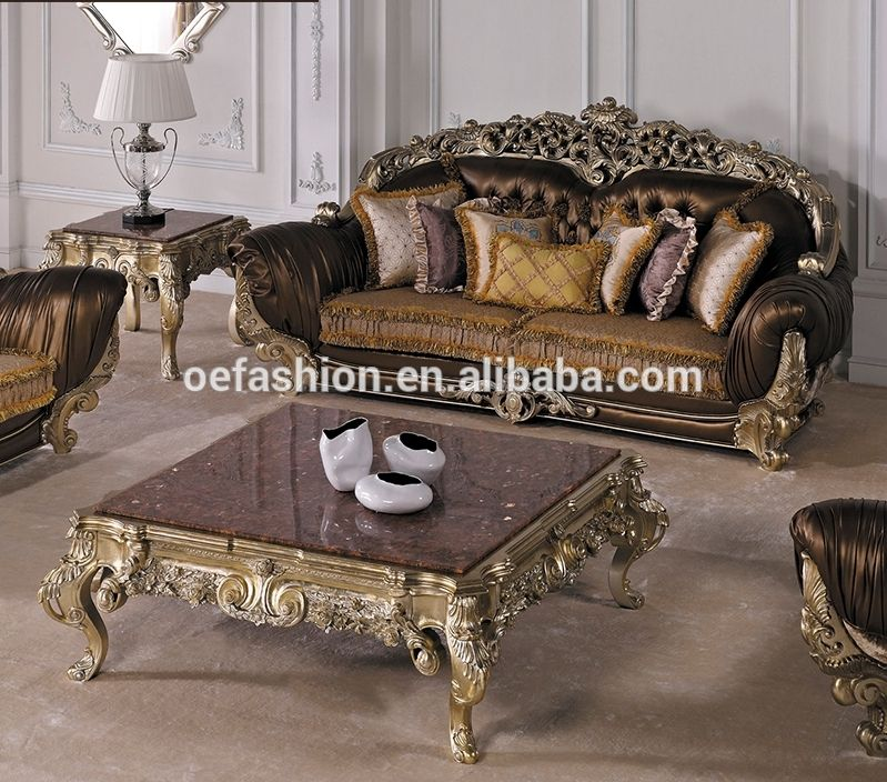 Comfortable luxury wood carving sofa set/solid wood home ...